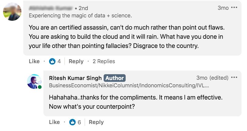 A LinkedIn feed